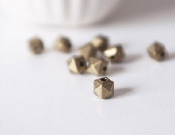 creative supplies 10 beads,G2754 Hexagonal hexagonal bronze infills bronze beads,BRONZE beads,supply bronzes,jewelry creation