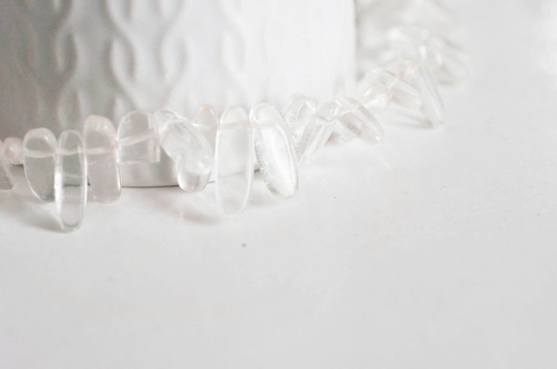 natural quartz Rock crystal bead gemstone 60 beads yarn stone bead creative supplies natural stone,13-22mm