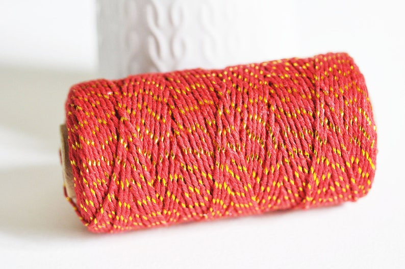 jewelry making 1.5mm width red thread scrapbooking thread 5 meters wedding thread Red golden metallic cord