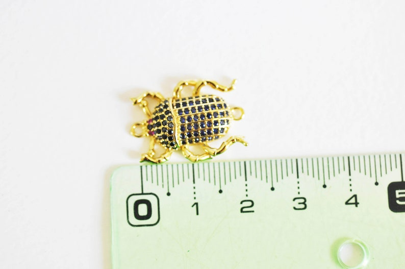 jewelry creation nickel-free lucky pendant golden insect zircon pendant,22.5mm-G1912 18k crystal
