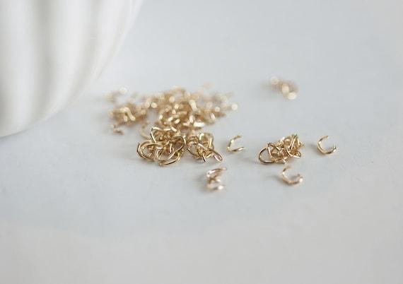 cerca l'autorizzazione negozio di sconto meticolosi processi di tintura Anelli ovali Golden 16K, forniture creativi, anelli aperti, anelli di  ottone oro, anelli sottili, placcato oro, creazione di gioielli, 1 grammo,  4mm