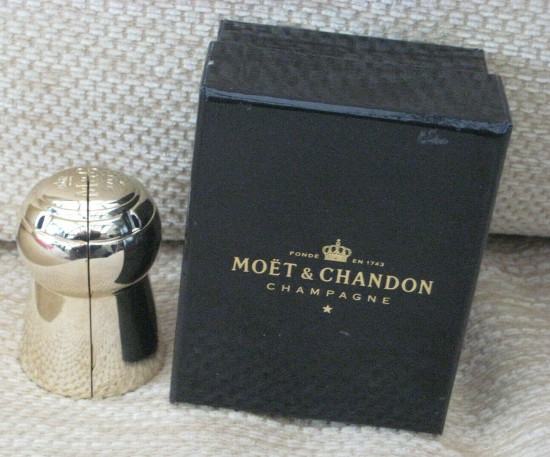 Moet /& Chandon Champagne Cork Keepsake Designed  By Arthus-Bertrand In Pouch With  Branded Moet Box