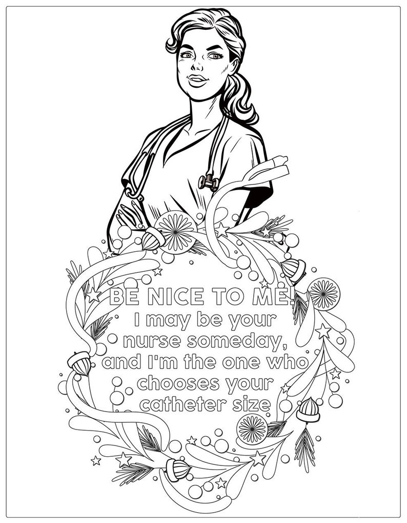 Nurse Coloring Book Coloring Books Coloring Pages Adult | Etsy