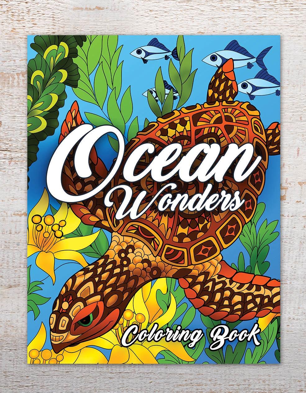 Ocean Wonders Coloring Books Pages Adult