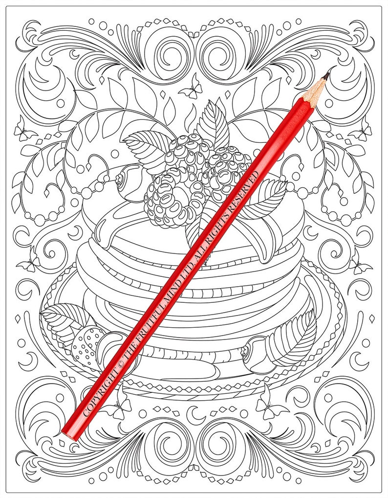 Delicious Desserts Coloring Book (Coloring Books, Coloring Pages, Adult  Coloring Books, Adult Coloring Pages, Coloring Books for Adults)