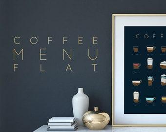 Coffee Menu Flat