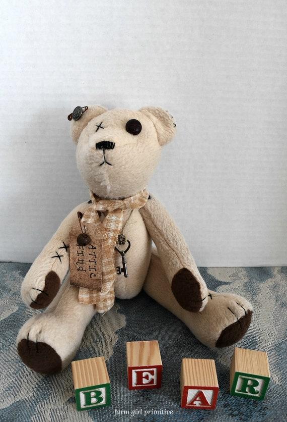 68572a19f5d Primitive Tattered Attic Find Teddy Bear