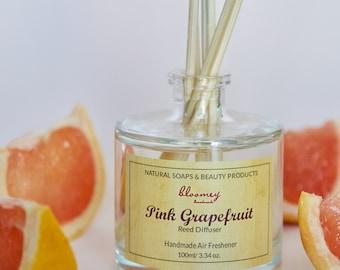 Pink Grapefruit Diffuser, Natural Home Scent, Summer Home Fragrance, Grapefruit Air Freshener, Desk Decor, Eco-Friendly Diffuser, Home Gift