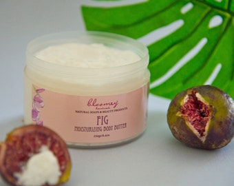 Fig Scented Body Butter, Natural Fig Body Butter, Fig Soothing Body Cream, Whipped Body Butter, Organic Body Moisturizer, Self-Care Gift