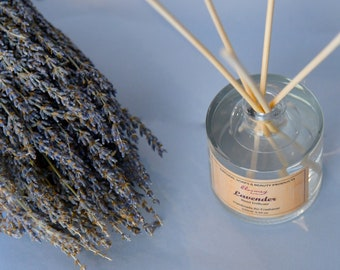 Lavender Reed Diffuser, Botanical Air Freshener, Lavender Home Fragrance, Ecofriendly Relaxation Gift, Home Office Décor, Self Love Gift