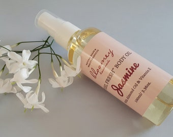 Jasmine Body Oil, Organic Body Moisturizer, Body Oil Spray, Jasmine Scented Bath Oil, Organic Body Oil, Scented Body Oil, Natural Body Care