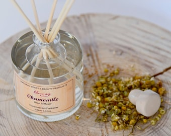 Chamomile Reed Diffuser, Natural Room Diffuser, Eco-Friendly Home Fragrance, Air Freshener, Bathroom Décor Fragrance, Home Office Decor
