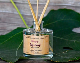 Fig Air Freshener, Fig Leaf Reed Diffuser, Eco Friendly Home Fragrance, Natural Room Diffuser, Home Decor, Eco Diffuser, Housewarming Gift