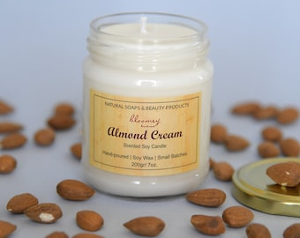Almond Soy Candle, Sweet Scented Home Fragrance, Non-Toxic Home Scent, Holiday Candle, Christmas Gift, Holiday Candle Décor, New Home Gift
