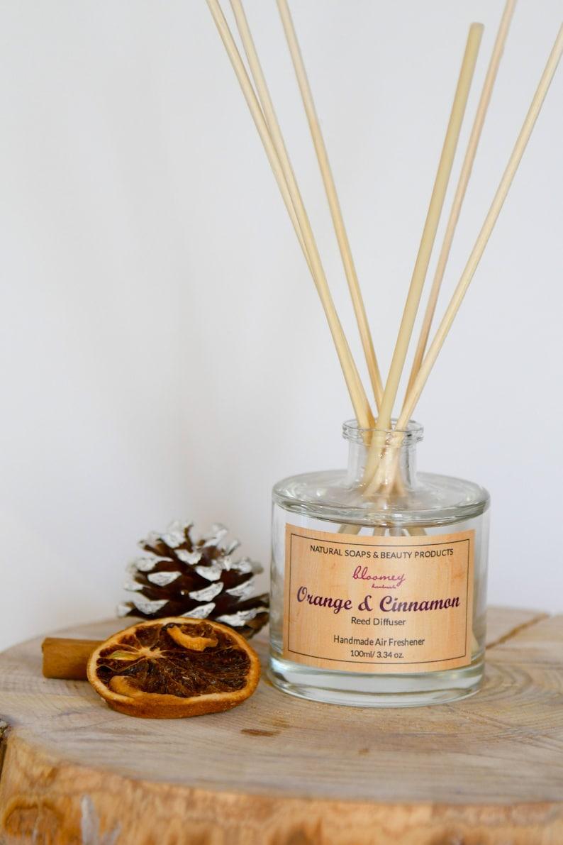 Orange & Cinnamon Reed Diffuser Eco-Friendly Home Fragrance image 0