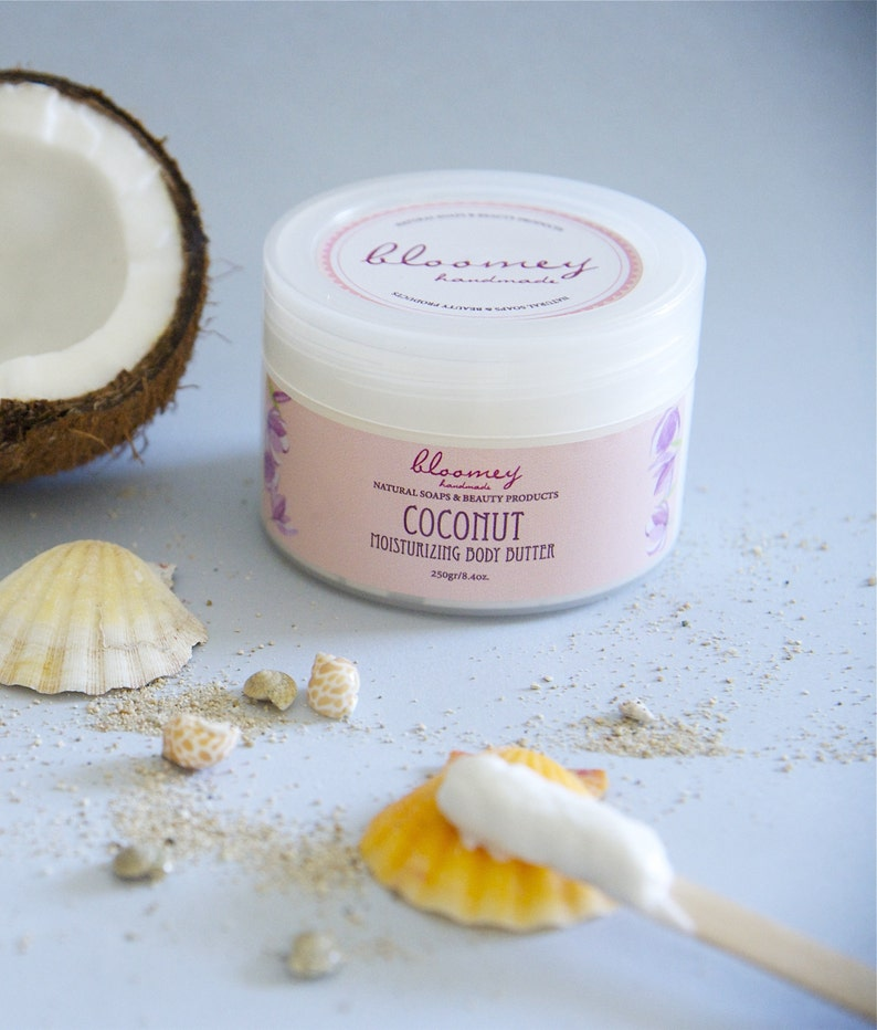 Coconut Body Butter Whipped Body Butter Coconut Scented Body image 0