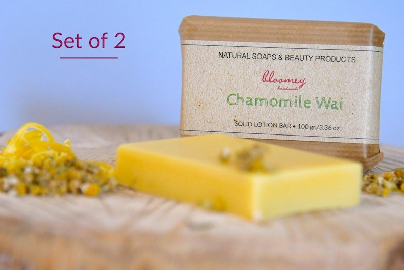 Set of 2 Solid Lotion Bars Chamomile Lotion Bars Set Body image 0