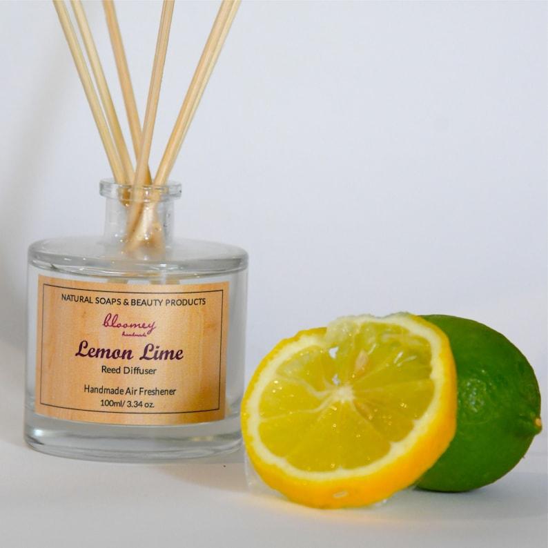Lemon Scented Diffuser Lime Air Freshener Refreshing Home image 0