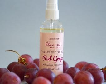 Body Spray, Organic Body Oil, Body Moisturizer Spray, Red Grape Body Spray, Bath Oil, Body Oil Spray, Scented Body Oil, Organic Skin Care