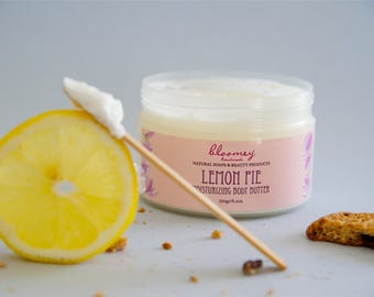 Natural Body Butter, Lemon & Cookies Body Cream, Whipped Body Butter, Flavored Body Moisturizer, Skin Soothing Lotion, Hydrating Body Cream