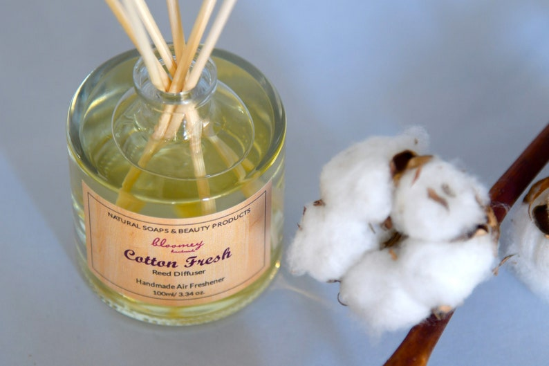 Cotton Reed Diffuser Non Toxic Air Freshener Cotton Natural image 0