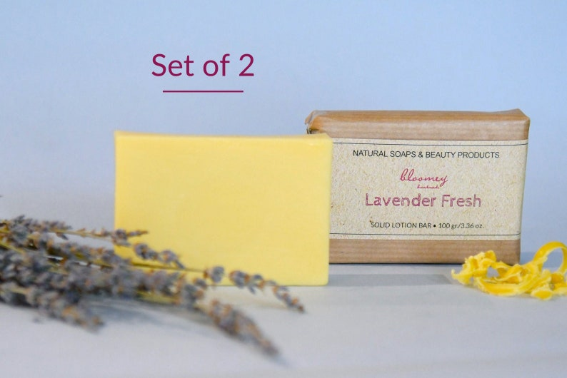 Pack of 2 Lavender Lotion Bars Lotion Bars With Lavender image 0