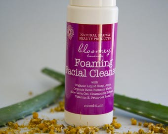 Foaming Face Wash Cleanser, Face Wash with Aloe, Soothing Cleansing Foam, Natural Liquid Face Cleanser, Make Up Remover, Natural Face Care