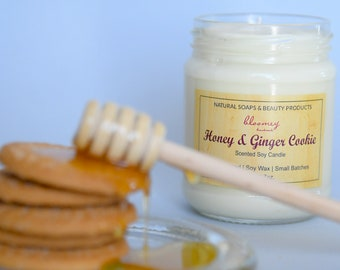 Ginger Cookie Candle, Honey Soy Candle, Holiday Scented Candle, Gingerbread Candle, New Home Gift, Christmas Soy Candle, Housewarming Gift