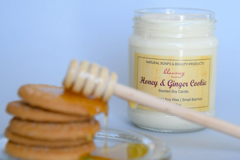 Ginger Cookie Candle Honey Soy Candle Sweet Scented Candle image 0