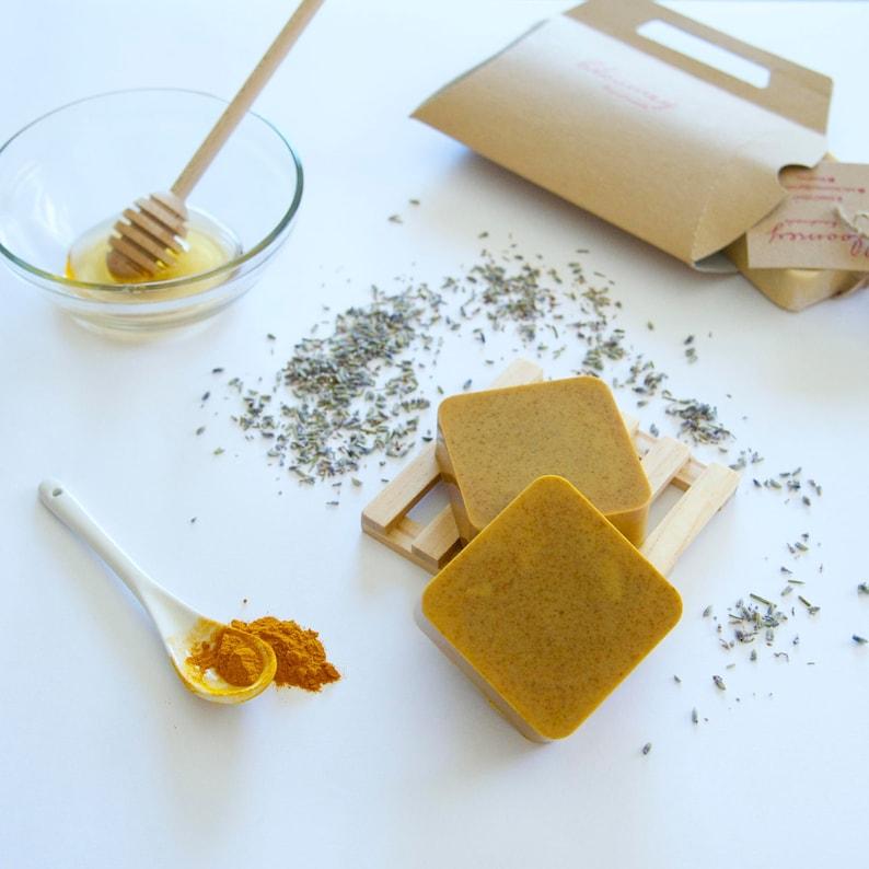 Turmeric Face Soap Honey & Turmeric Soap Soap For Sensitive image 0