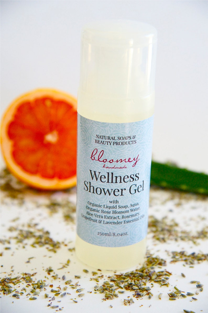 Shower Gel Organic Body Wash Liquid Soap with Essential image 0