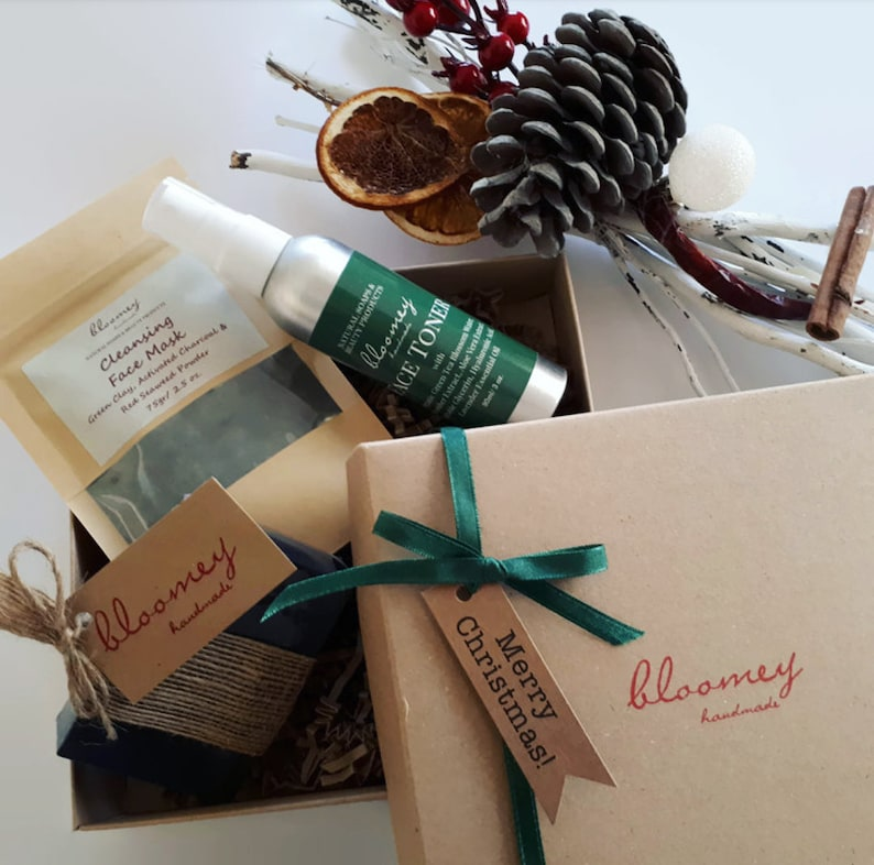Face Care Package Christmas Gift Box Holiday Self Care image 1