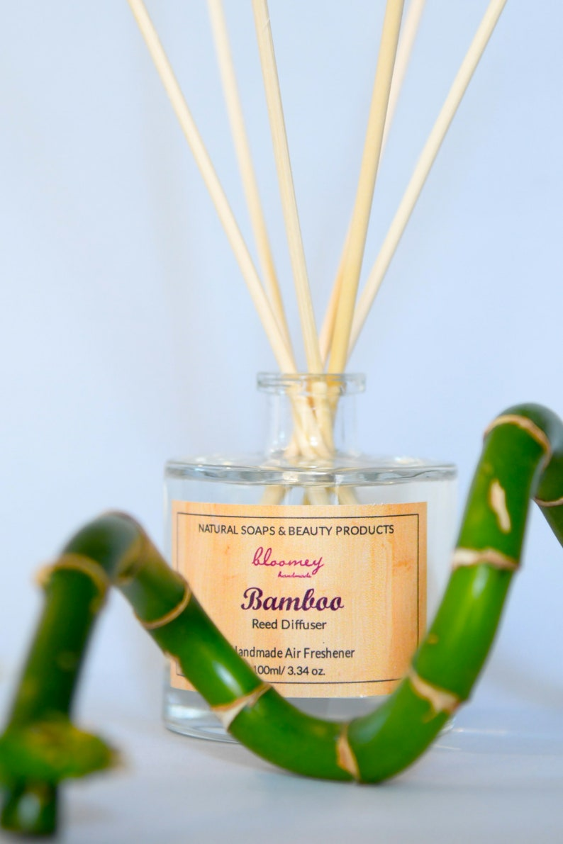 Bamboo Scented Diffuser Natural Air Freshener Non Toxic Home image 0