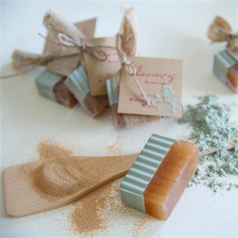 Green Clay Soap Exfoliating Soap Lavender Soap Detoxifying image 0