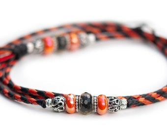 Leather lead Kangaroo leather show lead in sunset shimmer Dog show lead SHOW LEAD