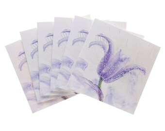 Pack of 6 greetings cards - Bluebell
