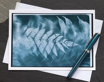 Large greetings card - Ferns
