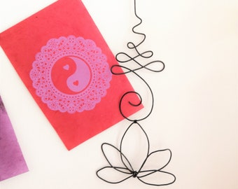 unalome, symbol, religious, Buddhism, spirituality, yoga, sculpture, metal wall decoration, wall decoration, wire decoration,