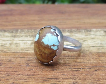 Turquoise Ring Size 5.75 / Number 8 Turquuoise / Sterling Silver Ring / Number Eight Turquoise Ring / Number 8 Mine / Genuine Turquoise Ring