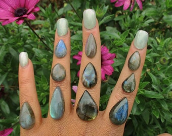 Your Custom Labradorite Ring - Sterling Silver - Made to Order - Choose Your Stone Ring - Labradorite Statement Ring - Eco Friendly Ring