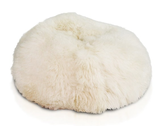 Groovy Very Big Sheepskin Pouf White Bean Bag Large Fur Pouf Comfortable Pouf Sheepskin Beanbag Bean Bag Christmas T Gmtry Best Dining Table And Chair Ideas Images Gmtryco
