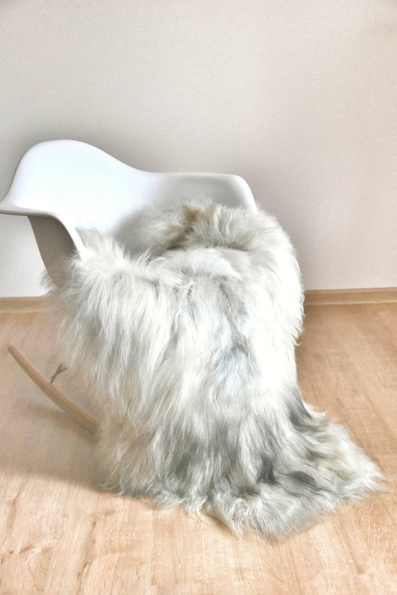 Terrific Sheepskin Rug Is White With Grey Ivory Accents Long Hair Chair Covers Beautiful And Cozy Rugs Natural Gift Sale Squirreltailoven Fun Painted Chair Ideas Images Squirreltailovenorg