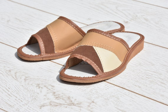 Comfortable embroidery summer Flip slippers slippers for flops Leather sandals Very light Flip Leather flops Women slippers Evryday UnxtH6pqw7
