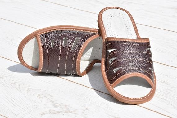 homme cuir sandales pour chaussons en tongs en tongs confortables Evryday cuir l pantoufles Chaussons td6qYt