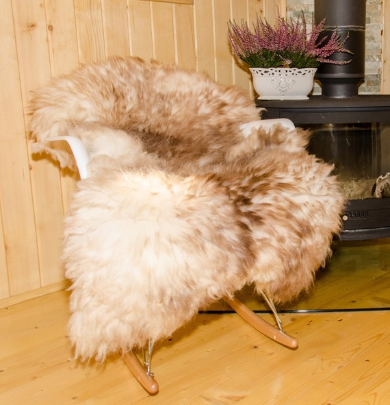Sheepskin Rug. Muflon. Fur Rug. Decorative Sheepskin
