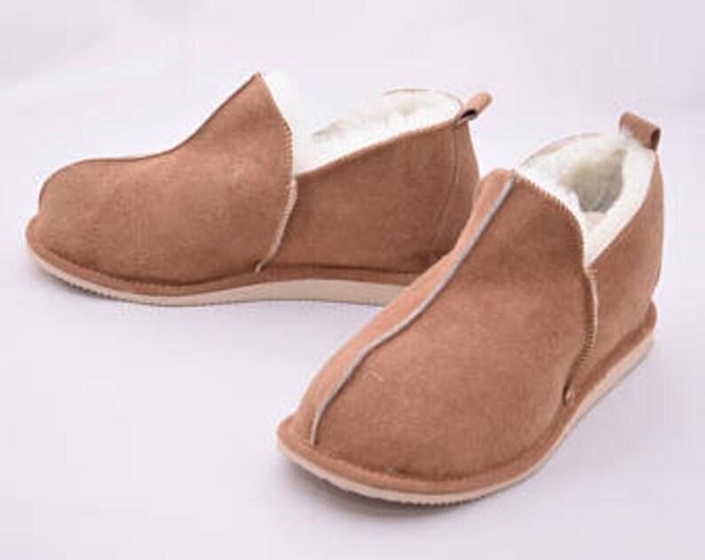 dc3ac3fb022 Sheepskin Men s slippers Leather slippers Lambskin