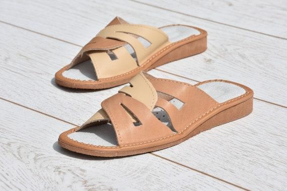 Leather embroidery Evryday flops for Flip slippers light Women summer Flip Leather flops sandals Comfortable slippers Very slippers rrqpnxSw