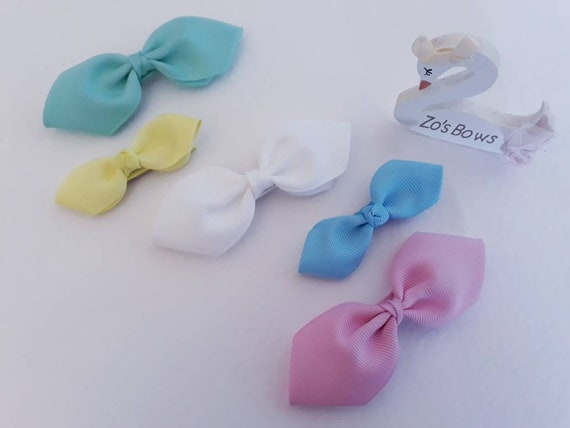 Hallie bows bows pastel bows Stunning chic ribbon hair bows organza ribbon girls hair bows 3 ribbon bow pretty little bows
