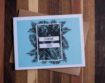 Palm Branches Thank You Card Set