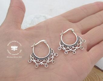 ef74d7d7b1c5a Silver boho earrings | Etsy